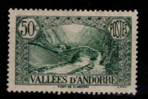 Andorre (French) Andorra Scott 38A MH*
