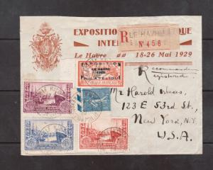 France #246 Used On Lovely Cover With 1FR Lined Sower & Exhibition Labels