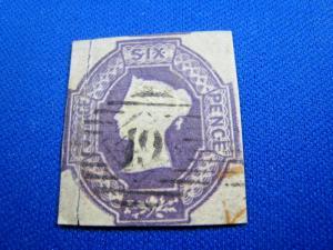 GREAT BRITAIN  -  SCOTT #7a  -  Used      (brig)