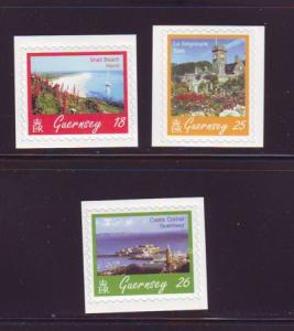 Guernsey Sc 593-5  1997 Island view stamps mint NH