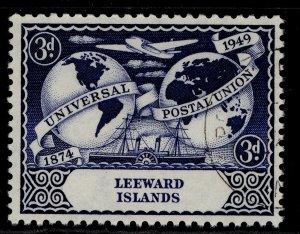 LEEWARD ISLANDS GVI SG120, 3d deep blue, FINE USED.