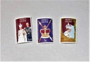 Sierra Leone - 444-46, MNH Set. Elizabeth II Coronation Anniv. SCV - $1.30
