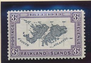 Falkland Islands Stamp Scott #69, Mint Lightly Hinged - Free U.S. Shipping, F...