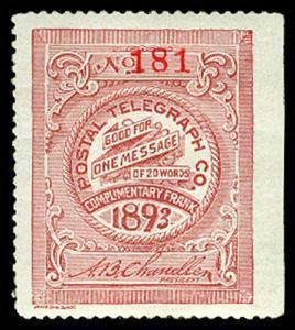 U.S. TELEGRAPH 15T8  Mint (ID # 62662)
