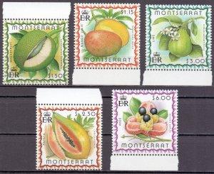Montserrat. 1999. 1095-99 bl82. Flora fruit. MNH.