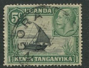 Kenya & Uganda - Scott 47 - KGV Definitive -1935 - FU -Type I - Single 5c Stamp