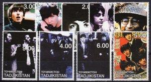 Tajikistan 2000  THE BEATLES MUSIC - Set (9) perforated MNH