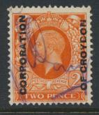 GB  George V Commercial Security Overprint  on SG 442  Used see details