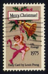 US #1580 Christmas Card by Louis Prang, used (0.25)