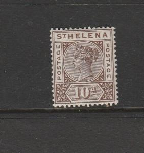 St Helena 1897 10d Fresh MM SG 52