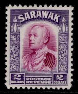 SARAWAK GV SG121, $2 bright purple & violet, M MINT. Cat £30.