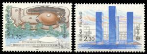 Finland 756-757, MNH, Europa Modern Architecture
