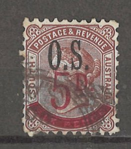COLLECTION LOT # 4231 SOUTH AUSTRALIA #O59 STAMPS 1891 CV+$14