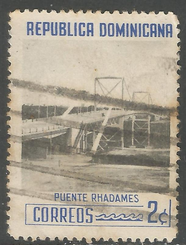 DOMINICAN REPUBLIC 519 VFU BRIDGE 401F-4