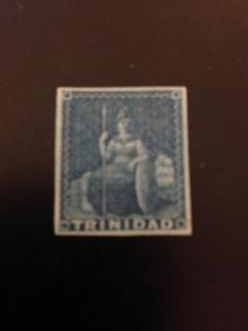 Trinidad sc 3a MHR blue paper