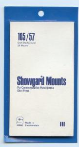 SHOWGARD DARK BACKGROUND MOUNTS 105/57 PACKAGE 20 Mounts