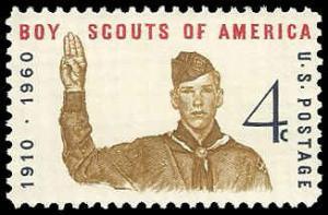 PCBstamps   US #1145 4c Boy Scout Jubilee, 1960, MNH, (2)