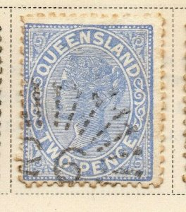 Queensland 1895 Early Issue Fine Used 2d. 326838