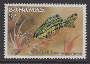 BAHAMAS SG770A 1986 $2 FISH NO DATE MNH