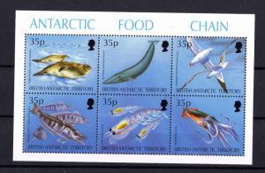 British Antarctic Territory 1994 Food Chain Mini Sheet SG250/255 MNH X6586