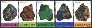 Zambia. 1982. 277-81. Minerals. MNH.