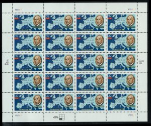 US Scott 3141 Full Sheet Gen. George C. Marshall! MNH!