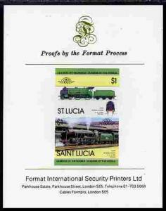 St Lucia 1983 Locomotives #1 (Leaders of the World) $1 Sc...