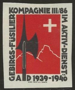 Switzerland 1939-45 WWII Feldpost Soldier INFANTRY Local Vignettes Fine HR