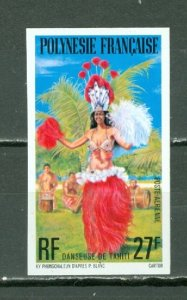 FRENCH POLYNESIA  IMPERF. 1977 DANCERS #C148  MNH..