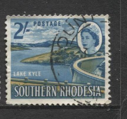 Southern Rhodesia- Scott 104 - QEII Definitives -1964 - Used- Single 2/- Stamp
