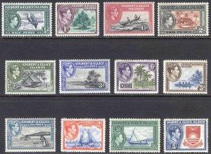 Gilbert & Ellice Is 1938 1/2d-5s Pict SG 43-54 Scott 40-51 VLMM/MVLH Cat£42($59)