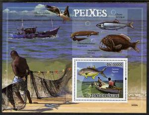 St. Thomas & Prince Islands MNH S/S Fish & Fishing 2009