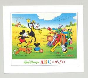 Mali #800 Disney, Mickey, ABC 1v S/S Imperf Proof
