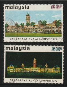 MALAYSIA 1972 City Status for Kuala Lumpur 2V USED SG#98&99