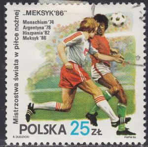 Poland 2728 USED 1986 World Cup Soccer, Mexico