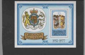 GRENADA #826  1977  ROYAL VISIT MINT  VF NH  O.G  S/S