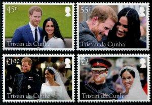 HERRICKSTAMP NEW ISSUES TRISTAN DA CUNHA Sc.# 1138-41 Royal Wedding Prince Harry