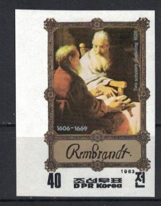 Korea 1983 Rembrandt - no perforation  (MNH)  - Paintings, Painting, Artists, Re