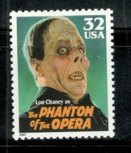 3168 Lon Chaney (The Phantom Of The Opera) Single Stamp Mint/nh FREE SHIPPING