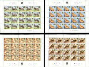 TUVALU Cats 4 Sheets Stamps Postage Collection SPECIMEN MINT NH