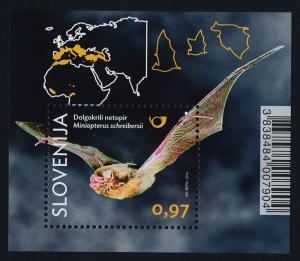 Slovenia 1057-60 MNH Bats, Map