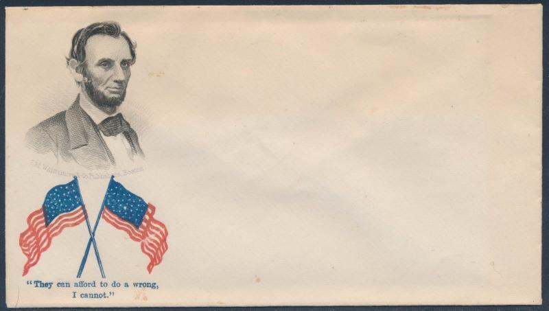 #AL-67 LINCOLN UNION CIVIL WAR PATRIOTIC COVER BS9385