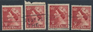 Australia SG 262a  SC# 258  noted for position shifts & margins 1956 Used see...