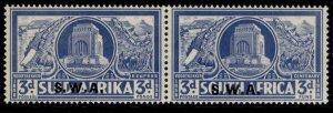 SOUTH WEST AFRICA GVI SG108, 3d + 3d bright blue, M MINT. Cat £55.