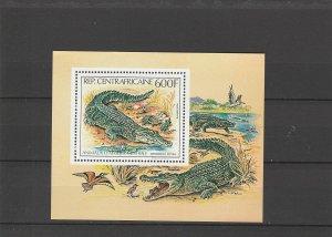 Central African Republic  Scott#  C265  MNH  S/S  (1982 Nile Crocodiles)