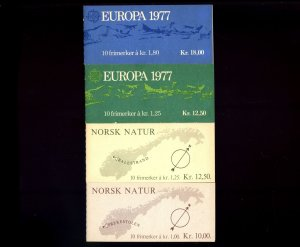 Lot of 58 Norway MNH Mint Stamps in Booklets Scott Range 677a - 694a #145840 R