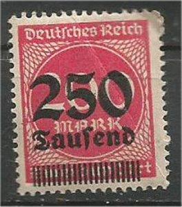 GERMANY, 1923, MNH  250th m on 200m Surcharged Scott 256