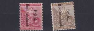 BECHUANALAND  1893 - 95     S G  38 - 39       SET OF 2     MH  LIGHTLY TONED