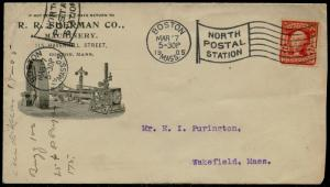 #319 ON R.R. SHERMAN Co. MACHINERY 1905 VF ILLUSTRATED ADVT COVER BQ2528