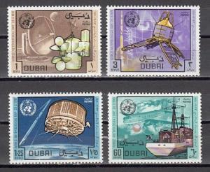 Dubai, Scott cat. 121-124. World Meteorological Day issue. ^